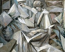 Albert Gleizes, 1910, Femme aux Phlox, oil on canvas, 81 x 100 cm, exhibited Armory Show, New York, 1913, The Museum of Fine Arts, Houston..jpg