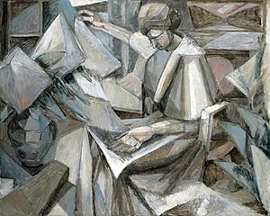 Albert Gleizes - Albert Gleizes, 1910, La Femme aux Phlox (Woman with Phlox), oil on canvas, 81 x 100 cm, exhibited Armory Show, New York, 1913, Museum of Fine Arts, Houston