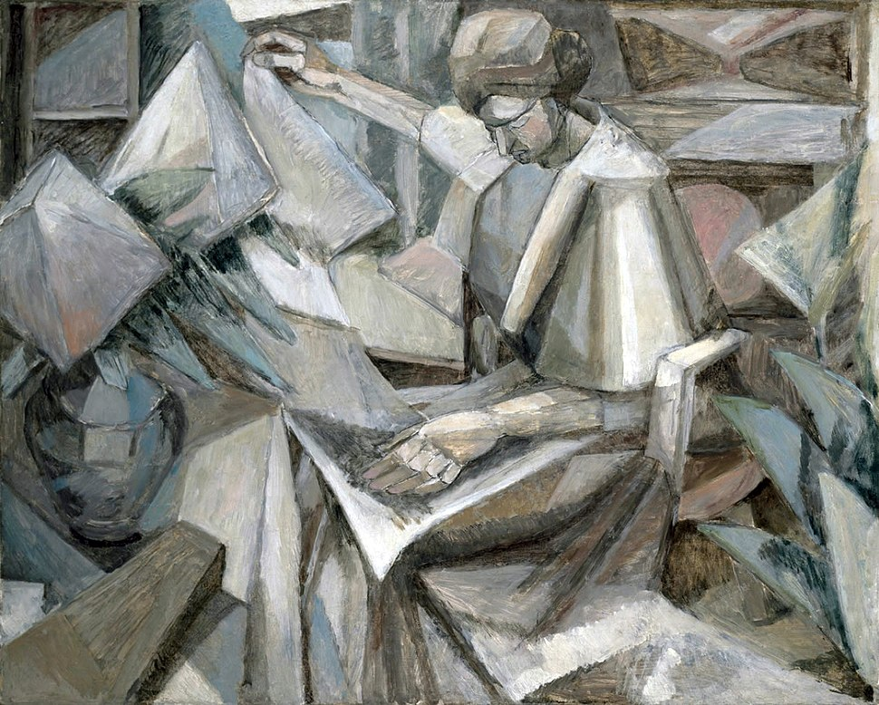 Albert Gleizes, 1910, Femme aux Phlox, oil on canvas, 81 x 100 cm, exhibited Armory Show, New York, 1913, The Museum of Fine Arts, Houston.