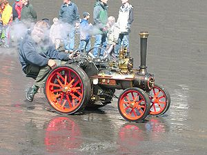A scale model Allchin traction engine – an example of a self-propelled steam engine