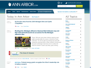 AnnArbor.com - Image: Ann Arbor.com screenshot