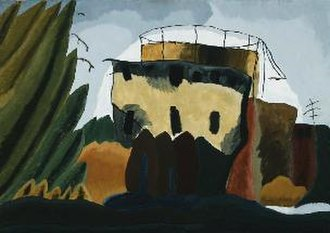 Arthur Dove - Tanks (1938), oil over wax emulsion, Boston Museum of Fine Arts