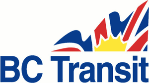 BC Transit - Logo used from 2000 to 2009—is still seen on many buses that were delivered in the red, blue and white paint scheme.
