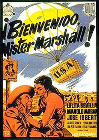 Welcome Mr. Marshall! - Theatrical release poster by Francisco Fernández Zarza