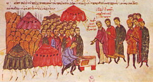 Battle of Achelous (917) - The oath of the Byzantine soldiers on the eve of the battle.