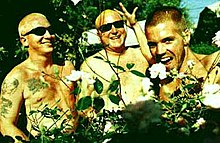 "Floyd ""Bud"" Gaugh, Eric Wilson, and Bradley Nowell in a 1996 promotional picture"