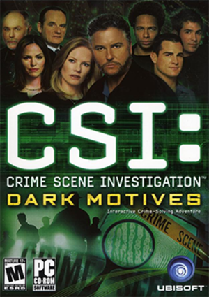 CSI: Dark Motives - Image: CSI Dark Motives Coverart