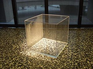 Hans Haacke - Condensation Cube, begun 1965, completed 2008; Plexiglas and water; Hirshhorn Museum and Sculpture Garden
