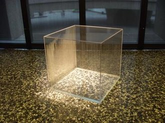 Generative art - Condensation Cube, Plexiglas and water; Hirshhorn Museum and Sculpture Garden, begun 1965, completed 2008 by Hans Haacke