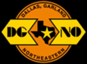 Dallas, Garland and Northeastern Railroad - Image: Dallas, Garland & Northeastern Railroad logo
