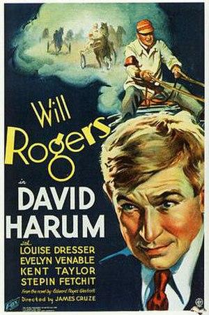 David Harum (1934 film) - Theatrical release poster