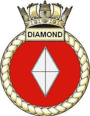 HMS Diamond (D34) - Image: Diamond Crest