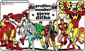 Steve Ditko - Image: Ditko DC characters