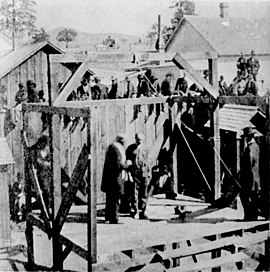 Execution of a soldier of the 8th Infantry at Prescott, Arizona, 1877