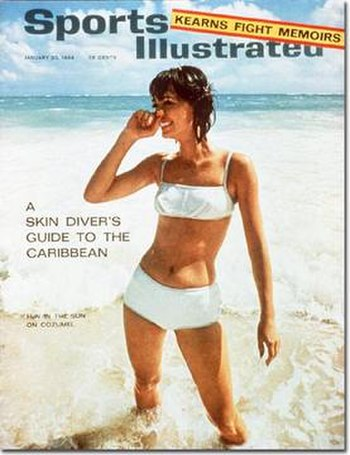 1964's first swimsuit issue cover featuring Ba...