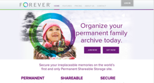 Forever (website) - Image: Forever website screen shot