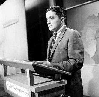 Gabe Pressman - Pressman reporting for WNBC-TV in 1957