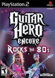 <i>Guitar Hero Encore: Rocks the 80s</i> 2007 video game