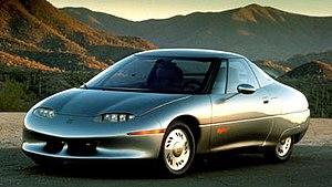 General Motors EV1 - The 1990 GM Impact electric concept car.