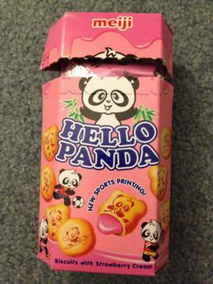 Hello Panda - A package of Hello Panda biscuits.