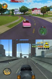 Hit & Run (top) and Grand Theft Auto III (bottom). Hit & Run