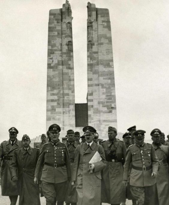 Hitler touring Vimy Memorial in June 1940