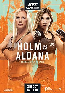 UFC on ESPN: Holm vs. Aldana Fight Poster