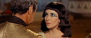 Cleopatra (Elizabeth Taylor) confronts Julius ...