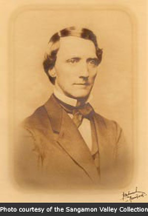 John Whitfield Bunn and Jacob Bunn - Jacob Bunn, Sr. (1814–1897). Photograph of Jacob Bunn taken at some point during the middle of the nineteenth century. This is one of the few photographs known to exist of Jacob Bunn. The original photograph is located in the Sangamon Valley Collection of the Lincoln Library of Springfield, Illinois.
