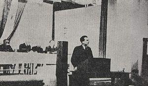 Josip Vidmar - Vidmar at a partisan rally during World War II.