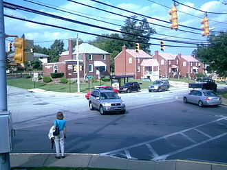 Kennedy Township, Allegheny County, Pennsylvania - Intersection of Pine Hollow Road and Fairhaven Road, two of the main thoroughfares in Kennedy