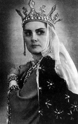 Larisa Avdeyeva - Avdeyeva as Gertrude in Bánk bán, 1959
