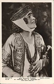 Winifred Lawson singer and actress