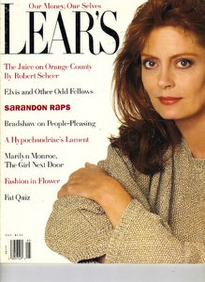 Lear's - May 1991 issue of Lear's featuring Susan Sarandon
