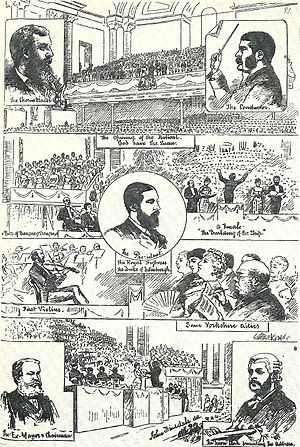 The Martyr of Antioch - Sullivan (top right) and colleagues at the 1880 Leeds Festival where The Martyr of Antioch was premiered