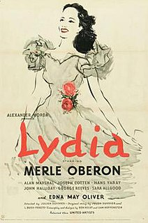 <i>Lydia</i> (film) 1941 American drama film directed by Julien Duvivier