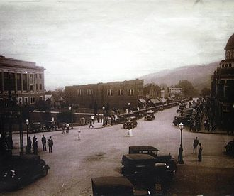 Marion, North Carolina - Bustling Downtown Marion in the 1920s