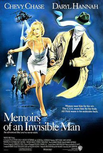 Memoirs of an Invisible Man (film) - Theatrical international release poster by Renato Casaro
