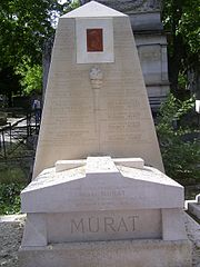 Marshal Murat's grave in Père Lachaise Cemetery.