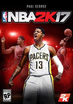 NBA 2K17 - Cover art featuring Paul George