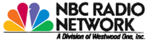 NBC Red Network - NBC Radio's logo from NBC's May 12, 1986 corporate-wide re-branding until its 2004 dissolution. Following the sale to Westwood One, a byline would be affixed in most cases. The current NBC News Radio logo is styled in the same manner.