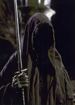 One of the Nazgûl portrayed in the Lord of the Rings film trilogy.