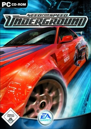 Need for Speed: Underground - NTSC region cover art of an orange Nissan Skyline for Windows