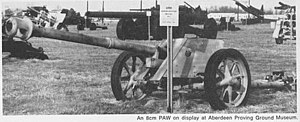 8 cm PAW 600 - PAW 600 at Aberdeen military proving grounds.