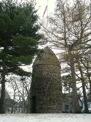 Powder Alarm - A 2007 photograph of the Old Powder House in Nathan Tufts Park, Somerville, Massachusetts