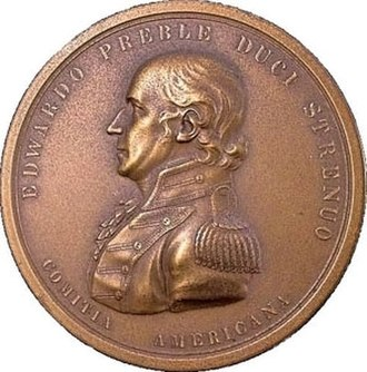 Edward Preble - EDWARDO PREBLE DUCI STRENUO COMITIA AMERICANA. (The American Congress to Edward Preble, a valiant officer.)