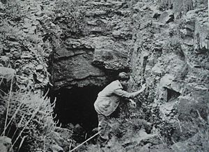 Welkom - Prospecting pit of Arthur Megson circa 1904