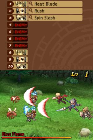 Radiant Historia - Image: Radiant Historia screenshot; battle