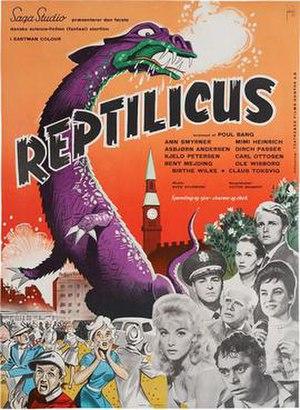 Reptilicus - Danish theatrical poster