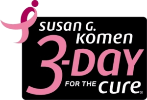 Susan G. Komen 3-Day for the Cure - The current Susan G. Komen 3-Day for the Cure logo.